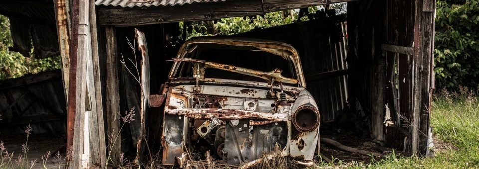 Where do junked cars go when they are abandoned?